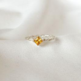 ONA – Ring Silber mit gelbem Zirkonia
