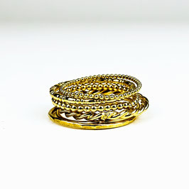 ALEXIA III – Set aus 6 Ringen Gold