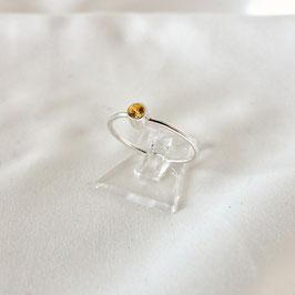 COSIMA MINI — Ring Silber mit Zirkonia Gelb