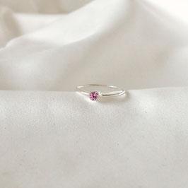 COSIMA MINI — Ring Silber mit Zirkonia Pink