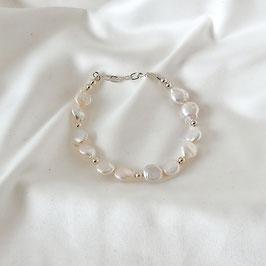 AURORA – Armband mit Perlen Silber