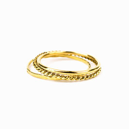 ALEXIA I – Set aus 3 Ringen Gold