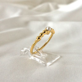 DEVA - Ring mit Perle Gold