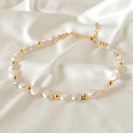 AURORA – Choker mit Perlen Gold