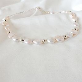 AURORA – Choker mit Perlen Silber