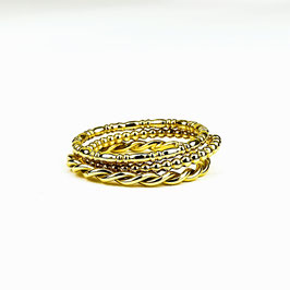 ALEXIA II – Set aus 3 Ringen Gold