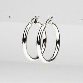 BLANCA  MAXI – Breite Creolen  30 mm Silber