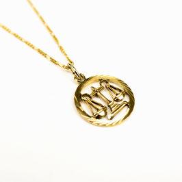 LIBRA // WAAGE – Sternzeichenkette 333 Gold