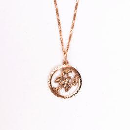 CANCER // KREBS – Sternzeichenkette Rosé vergoldet