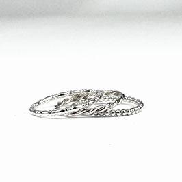 ALEXIA II – Set aus 3 Ringen Silber