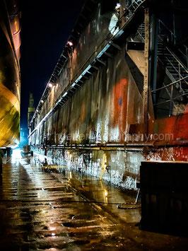 Dockyard at night