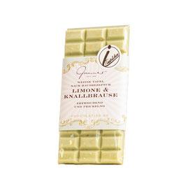 Weiße Schokolade mit Limone Knallbrause