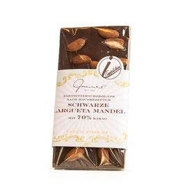 Zartbitter Schokolade mit Largueta Mandeln