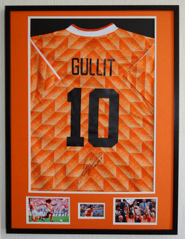 Ruud Gullit hand signed Holland 1988 home Jersey - Deluxe framed  + COA