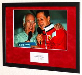 Murray Walker originally signed photo - Premium Framed + COA