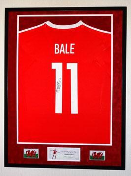 Gareth Bale hand signed Wales EURO 2016 Jersey - Premium framed  + COA