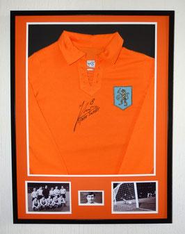 Sjaak Swart hand signed Holland home Jersey - Deluxe framed  + COA