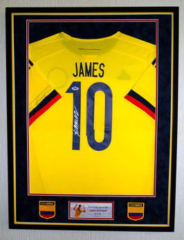 James Rodriguez hand signed Colombia Jersey - Premium framed  + COA