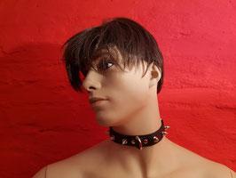 Leder Halsband mit Nieten 124
