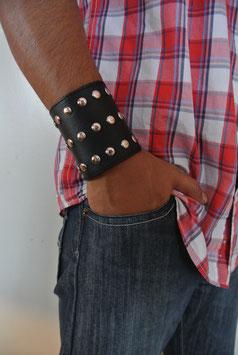 Leder Nieten Armband 209