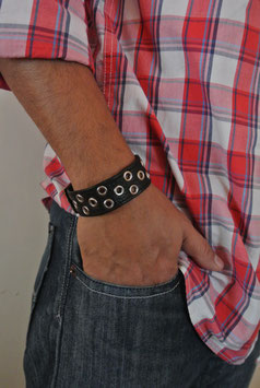 Leder Nieten Armband 292