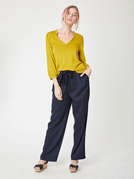 Wide Leg Paper Bag Waist Trousers