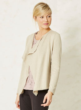 BRAINTREE  Organic Cotton Cardigan Stone