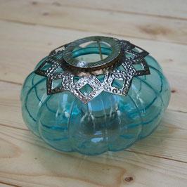 Teelichtglas turquoise