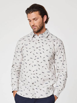 Thought Organic Cotton Shirt with Aviator Print
