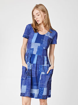 Organic Cotton Patchwork Print Dress