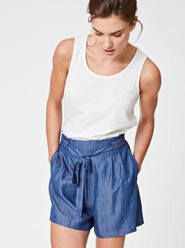 Chambray  Paperbag Waist Shorts