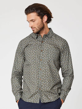 Thought Organic Cotton Shirt with Blue Tit Print