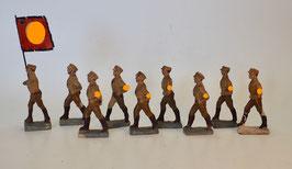 SA Soldaten mit Fahne 9 Figuren
