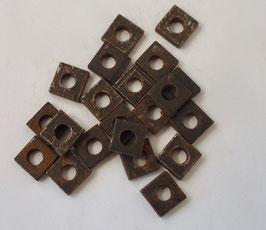Vierkantmuttern Set,  M 6 roh flugrostig