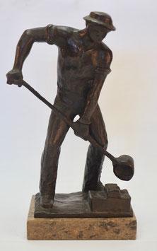 Bronze Figur, Eisen Giesser