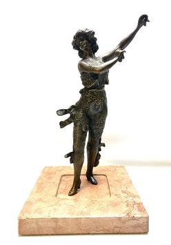 Traumhafte Bronze Skulptur Tänzerin