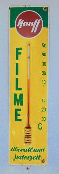 Email Thermometer, Hauff Filme Werbeschild