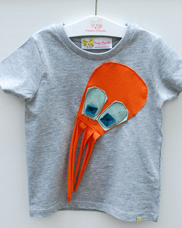 T-Shirt Applikation -Blume/hai/octopus