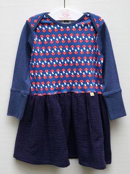 Longsleeve-Musselin-Kleid, Fuchs oder Pilz