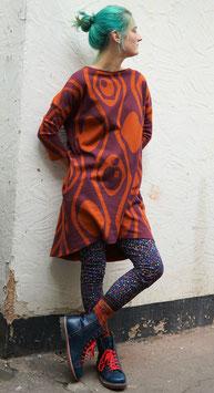 H- Kleid Jacquard rost