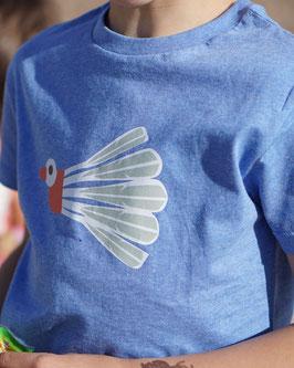 T-Shirt mit Druck Federballvogel