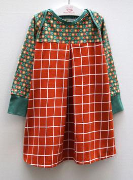 Langarm Kleid LOTTA Retro Blume und Karo