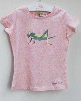 T-Shirt mit Druck Federballvogel oder Grashüpfer