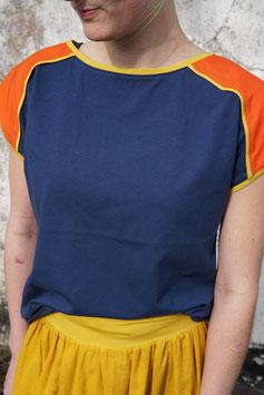 Raglan Shirt Damen blau oder gelb