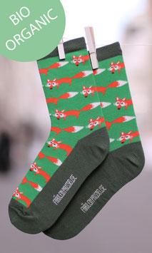 Fuchs Socken Damen Grün BIO