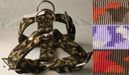 Geschirr 5cm breit camouflage El Perro