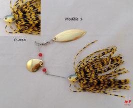 Spinnerbait cuillers dorées