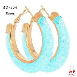 Boucles d'oreilles anneaux Stardust dorés