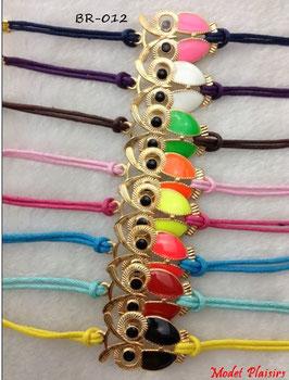 Bracelets hiboux dorés et couleurs