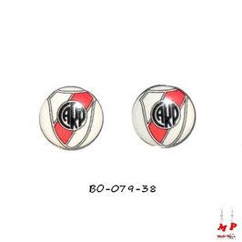 Boucles d'oreilles acier logo CARP